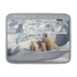 白くまのカブスの北極野性生物のMacbookの袖 MacBook スリーブ