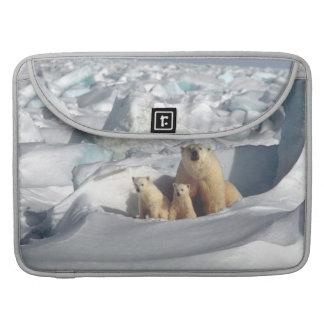 白くまのカブスの北極野性生物のMacbookの袖 MacBook Proスリーブ