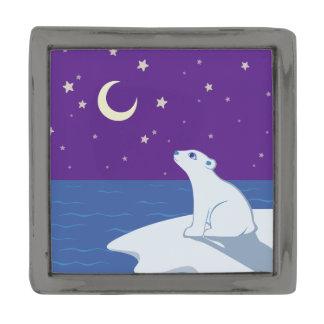白くまのカブスの星を眺める芸術 ガンメタルラペルピン