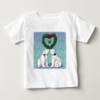 白くまのキス ベビーTシャツ