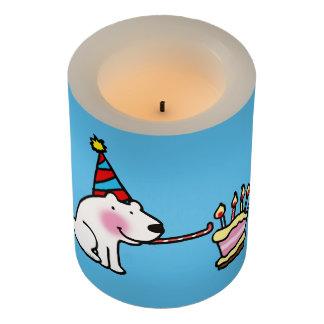 白くまのケーキの誕生会 LEDキャンドル