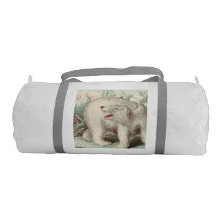 白くまのヴィンテージのプリント ジムバッグ