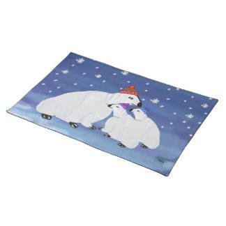 白くまの冬のアメリカ人のMojoのランチョンマット ランチョンマット
