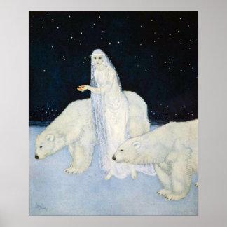 白くまの冬魔法ポスタープリントエドマンドDulac ポスター