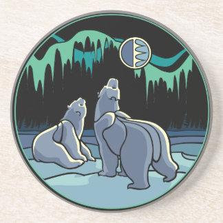 白くまの芸術のギフトの天然芸術の野性生物のコースター コースター