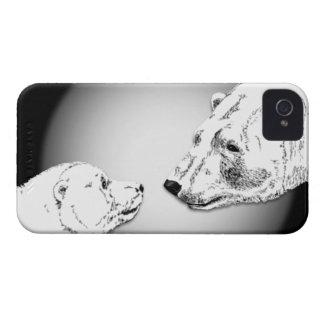 白くまの芸術のブラックベリーの箱くまはギフトに耐えます Case-Mate iPhone 4 ケース