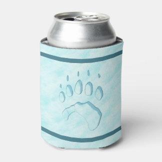 白くまの足のプリント 缶クーラー