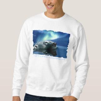 白くまのLong-sleeved長袖シャツを夢を見るオーロラ スウェットシャツ