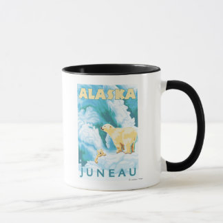 白くま及びカブス-ジュノー、アラスカ マグカップ