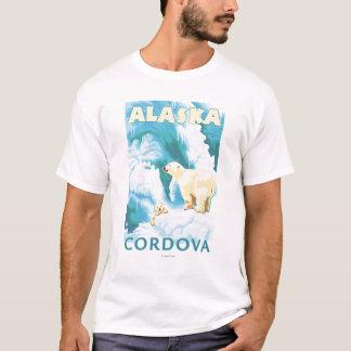 白くま及びカブス- Cordova、アラスカ Tシャツ