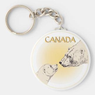 白くま及びカブスKeychainの野性生物の芸術のカナダのギフト キーホルダー