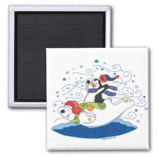 白くま及びペンギンの友人の磁石 マグネット