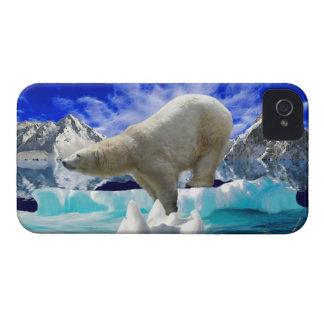 白くま及び北極氷のiphone 4ケース iPhone 4 Case-Mate ケース