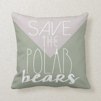 白くま|の気候変動|の枕を救って下さい クッション