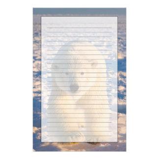 白くま、北極Ursusのmaritimusは氷に関係します 便箋