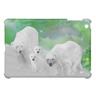 白くま、幼いこどもおよびNorthern Lights iPad Miniケース