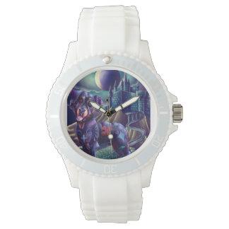 白くスポーティでカスタムな腕時計Roxyロットワイラー 腕時計