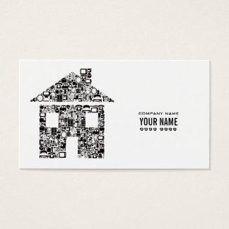 白くモダンな建築のテンプレートの名刺 名刺