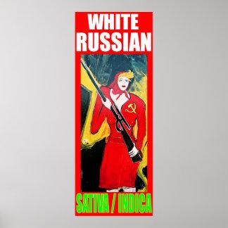 白くロシアのなSATIVAインド ポスター
