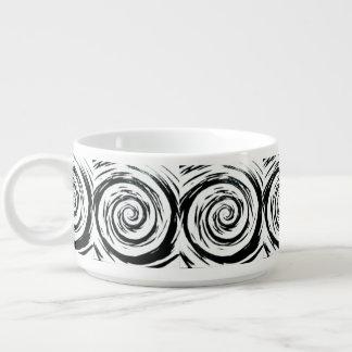白く及び黒い催眠性の渦巻の芸術 チリボウル