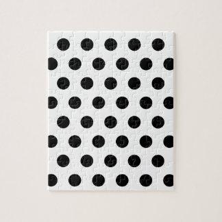 白く及び黒い水玉模様 ジグソーパズル