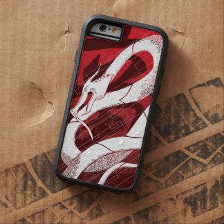 白く日本のなドラゴンの赤の背景 TOUGH XTREME iPhone 6 ケース