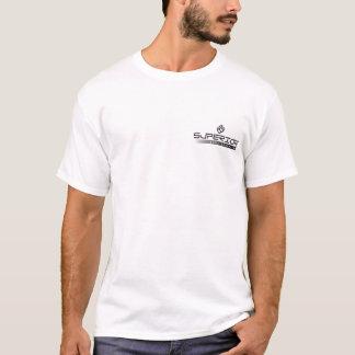 白く短い袖Microfiber Tシャツ