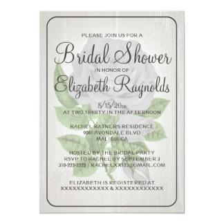 白く素朴な花のブライダルシャワー招待状 12.7 X 17.8 インビテーションカード