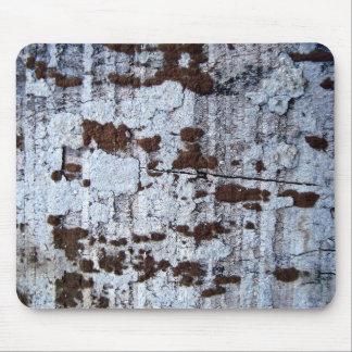 白く荒い木の表面 マウスパッド