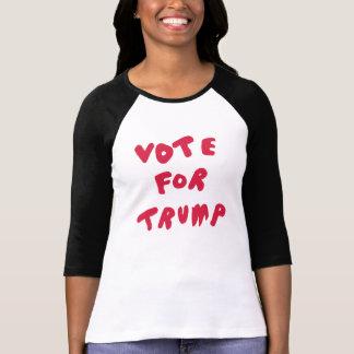 、白く黒い、切札-赤いRaglanのワイシャツのための投票 Tシャツ