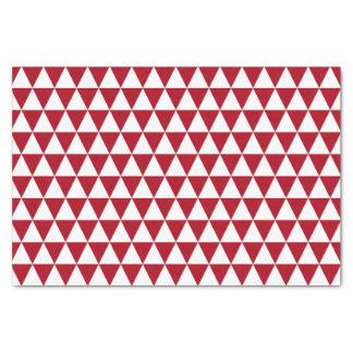 白く、えんじ色の三角形 薄葉紙