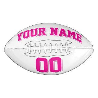 白く、ピンクのカスタムなフットボール アメリカンフットボール