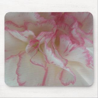 白く、ピンクのカーネーションのマウスパッド マウスパッド