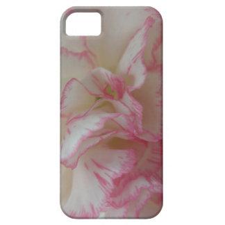 白く、ピンクのカーネーションのiPhone 5の箱 iPhone SE/5/5s ケース