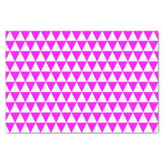 白く、ピンクの三角形 薄葉紙