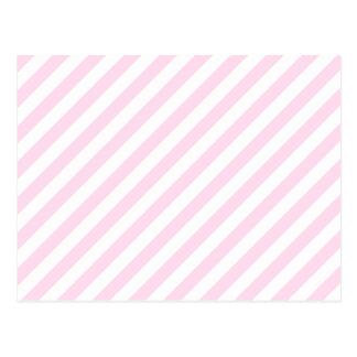 白く、淡いピンクの縞 ポストカード