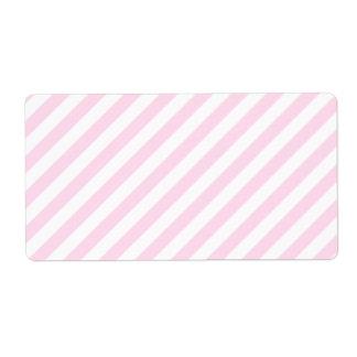 白く、淡いピンクの縞 ラベル