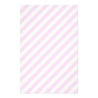 白く、淡いピンクの縞 便箋