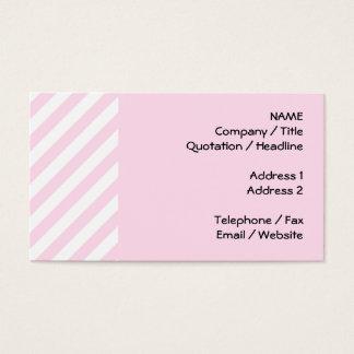 白く、淡いピンクの縞 名刺