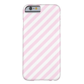 白く、淡いピンクの縞 BARELY THERE iPhone 6 ケース