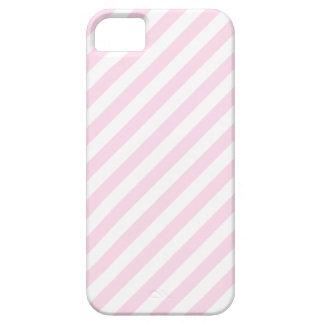 白く、淡いピンクの縞 iPhone SE/5/5s ケース