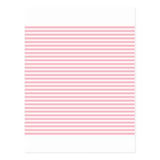 -白く、淡いピンク縞で飾ります ポストカード