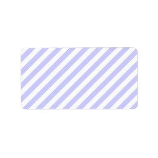 白く、薄紫の縞 ラベル