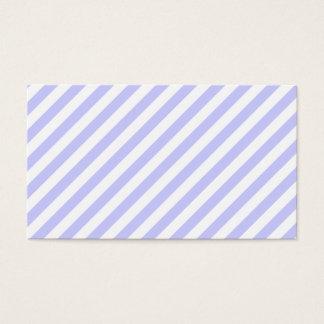 白く、薄紫の縞 名刺