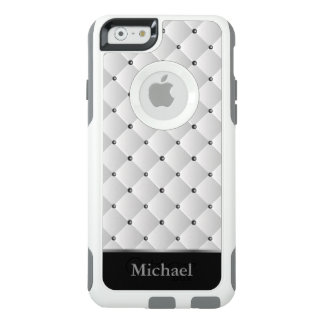 白く、黒いおよび銀製パターンデザイン オッターボックスiPhone 6/6Sケース