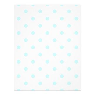 白で淡いブルー小さい水玉模様- レターヘッド