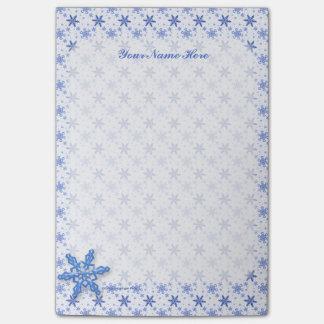 白で青い雪片 ポストイット