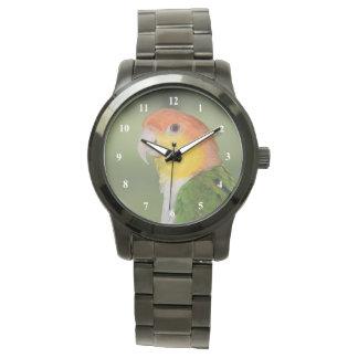 白によって膨らまされるシロハラインコのオウムのアウトドア 腕時計