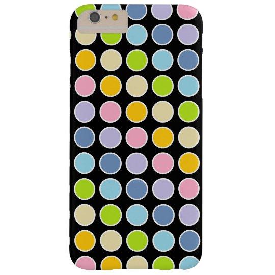 白によって輪郭を描かれるパステル調の虹の水玉模様 スリム iPhone 6 PLUS ケース