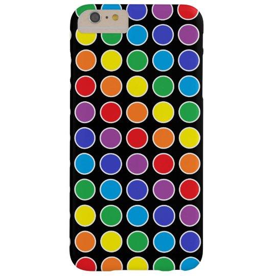 白によって輪郭を描かれる虹の水玉模様 スキニー iPhone 6 PLUS ケース